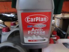 9x CarPlan - Red Advance Anti-Freeze & Coolant (5 Years Extended life) - 1 Litres - Sealed.