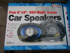 "Streetwize Audio - Pair 6"" x 9"" 350w 3-Way Car Speakers - Unchecked & Boxed."