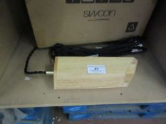 | 1X | PLUTO PENDANT LIGHT IN RUBBER WOOD | UNCHECKED AND BOXED | RRP £69 |