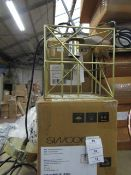 | 1X | SWOON ELIELE PENDANT LIGHT IN BRASS | UNCHECKED AND BOXED | RRP £79 |