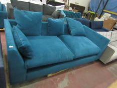 | 1x | SWOON VELOUR 3 SEATER SOFA | HAS NO FEET,NEEDS A CLEAN AND THE BACK CUSHIONS ARE MISSING |