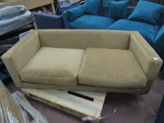 | 1x | SWOON VELOUR 2 SEATER SOFA | HAS NO FEET,NEEDS A CLEAN AND THE BACK CUSHIONS ARE MISSING