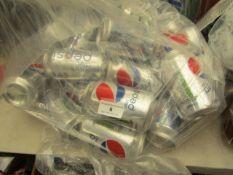 25x Diet Pepsi - 330ml - Packaging Damaged, In Non Original Packaging.