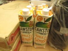 6x Cawston Press - Apple & Ginger Cloudy Juice - 1 Litre - BBE 10/21 - Unpackaged.