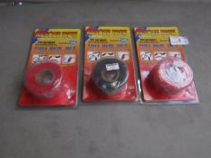 3x Rescue Tape - Red Repair Tape - Unused & Packaged.