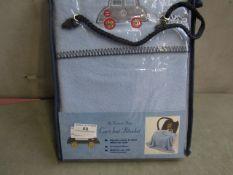 Car Seat Baby Fleece Blanket (Blue) - Unused & Packaged.