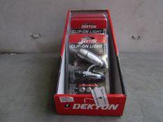 6x Dekton - Clip-On Light - New & Packaged.