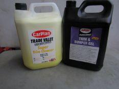 Automotive Exterior Valet Set - Includes : 1x Carplan - Trade Valet Super Trim Cleaner (5 Litre) -