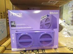 Ihome wireless rechargeable stereo speaker - New & Boxed