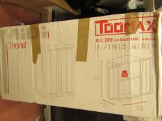 Toomax Plastic Cupboard. Ideal for Shed/Garage. Boxed but unchecked