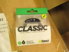 6 x Breo Classic Analogue Strap Watches - Unused & Packaged.