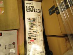 Asab 36 Pair Over the Door Shoe Rack. Boxed but unchecked