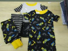 2 X Kirkland Signature Childs Pyjamas Age 3yrs (1 Has Shorts The other has Long pants ) New