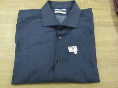 Calvin Klein Slim Fit long Sleeve men's Shirt Size X/L Wrinkle Free, New with tags,(See Picture