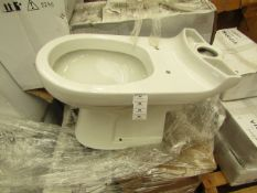 Victoria Plumb PAN1060 toilet pan, new and in water damaged box.