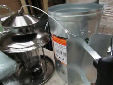 Asab - Charcoal Chimney Starter - Unused. 1x Natures Market - Lantern Bird Seed Feeder - Unused With
