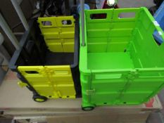 2x Various Asab - Boot Carriers (With Handles & Wheels) - Unused.