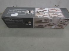 Set of 3 Floating Shelves (White) - Unchecked & Boxed.