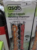 Asab - Coffee Capsule Rotating Dispenser (Holds Up to 24) - Unchecked & Boxed.