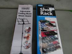 1x Home Smart - Lightweight Shoe Rack (Holds up to 21 Pairs) - Unused & Boxed. 1x Asab -