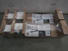 2x Asab - 3 Piece Floating U-Shelves (Oak) - Unused & Packaged.