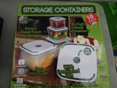 Just Essentials - Storage Containers 10 Piece Set - Unchecked & Boxed.