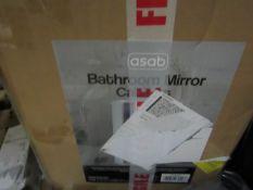 Asab - Bathroom Mirror Cabinet W34 X D15 X H53 cm - Unchecked & Boxed.