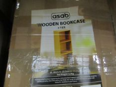 Asab - Wooden Bookcase 3 Tier W30XD23.5XH79.5cm - Unchecked & Boxed.