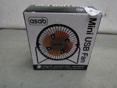 Asab - Mini USB Fan - Unused & Boxed.