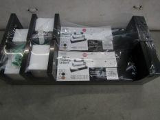 2x Asab - 3 Piece Floating U-Shelves (Black) - Unused & Packaged.
