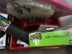 6x Various Household Items From: Asab, Magnet Dark Board, Solar Lights Etc.