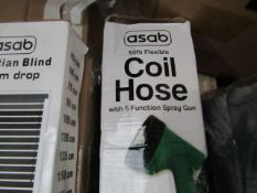 Asab - Flexible 50ft Coil Hose - Unchecked & Boxed.