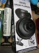 2x Asab - Drain Plunger's - One Boxed, Other Unboxed.
