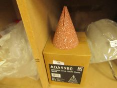 | 1X | HK LIVING TERRAZZO CONE PHOTO STAND | BOXED AND UNCHECKED | RRP £25 |