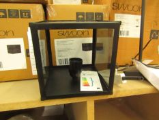 | 1X | SWOON CASP WALL LIGHT IN SMOKED | UNCHECKED AND BOXED | RRP £79 |