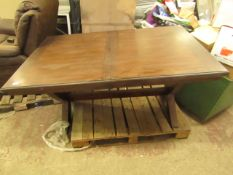 1x Bayside extending dining table, pre built, has a few scratches on the top.