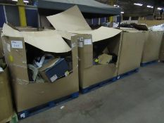   1X   PALLET OF APPROX UNMANIFESTED ITEMS, ALL RAW CUSTOMER RETURNS SOME MAY BE LOOSE OR IN NON