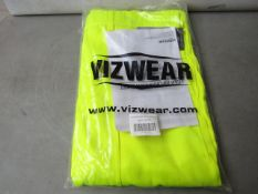 Vizwear - Hi-Vis Yellow Polycotton Trousers - Size 3XL - Unused & Packaged.