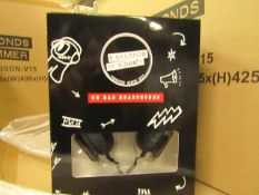 5x 5 Seconds of summer headphones - New & Boxed