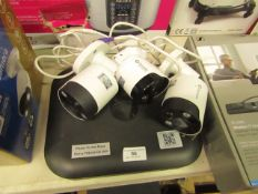 Swann 4 channel digital video recorder with 3x Swann 3K series cameras, all unchecked and boxed.