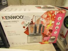 Kenwood MultiPro Compact + food processor, tested working and boxed. RRP £129.99