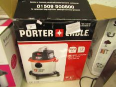 Porter Cable 1000w wet and dryu vacuum, tested working and boxed..