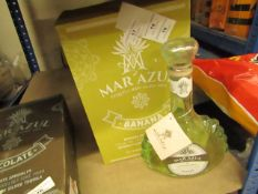 NO VAT!! 1 X 700ml Bottle of Mar Azul Banana flavoured Tequila, 25% ABV (50% proof), new and sealed,