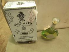 NO VAT!! 1 X 700ml Bottle of Mar Azul Mint flavoured Tequila, 25% ABV (50% proof), new and sealed,