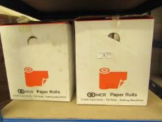 2 Cases of 100 NCR Till Rolls. 37.5mm x 70mm. New & Boxed