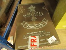 NO VAT!! 1 X 700ml Bottle of Mar Azul Chocolate flavoured Tequila, 25% ABV (50% proof), new and