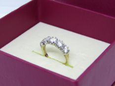 NO VAT!! Pre-owned 9ct Gold Diamond Ring in presentation box(item has been cleaned with Ultra Sonic