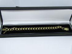 "NO VAT!!! Ladies Crub 18ct Gold 8"" Length 10mm Bracelet 43grams in weight.RRP circa £2500(item"