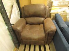 Costco Heated reclining, rocking, electric reclining massaging arm chair, unchecked, requires a