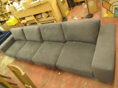 | 1X |SWOON 4 SEATER SOFA, THIS IS ACTUALLY 2 PIECE OF THE SAME SOFA THAT ARE MISSING THE CHAISE